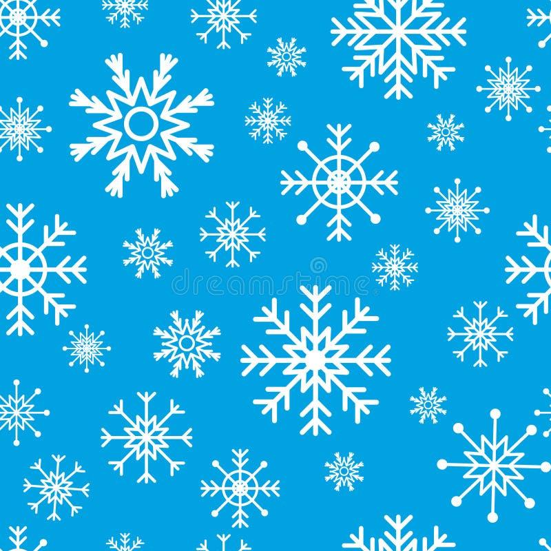 Nahtloses Schneeflockemuster stock abbildung