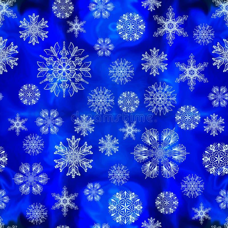 Nahtloses Schneeflockemuster lizenzfreie stockbilder