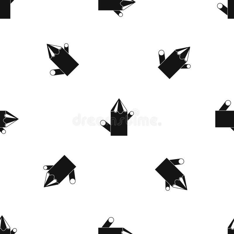Nahtloses Schwarzes des hölzernen Stumpfmusters lizenzfreie abbildung