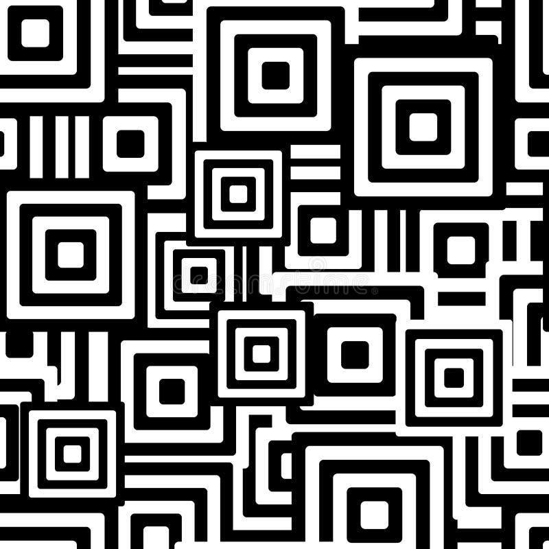 Nahtloses Schwarzweiss-Muster stock abbildung
