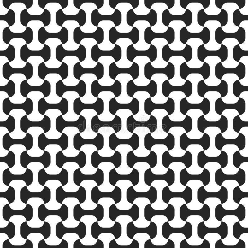 Nahtloses Schwarzweiss-Muster vektor abbildung