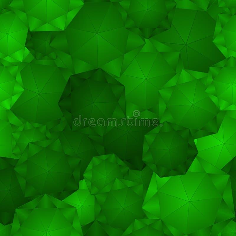 Nahtloses Smaragdmuster lizenzfreie abbildung