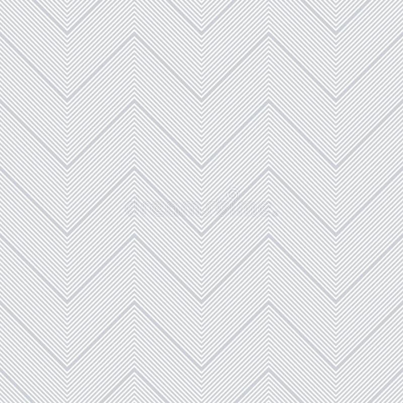 Nahtloses Sparrenmuster Zickzacknadelstreifenlinien Beschaffenheit vektor abbildung