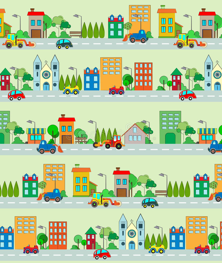 Nahtloses Stadtmuster stock abbildung