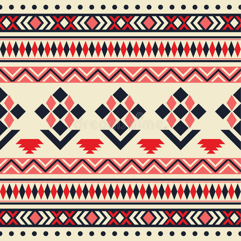 Nahtloses Stammes- Muster des Vektors stock abbildung