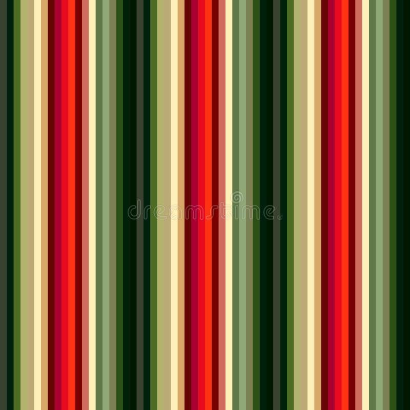 Nahtloses Streifenmuster der Chrismas-Farbart Abstrakter Vektor lizenzfreie abbildung