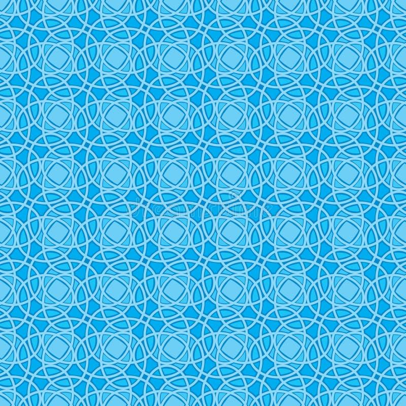 Nahtloses Tapeten-Muster im Blau vektor abbildung