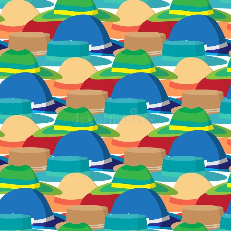 Nahtloses Textilmuster mit modernem flachem Design des Vektors lizenzfreie abbildung
