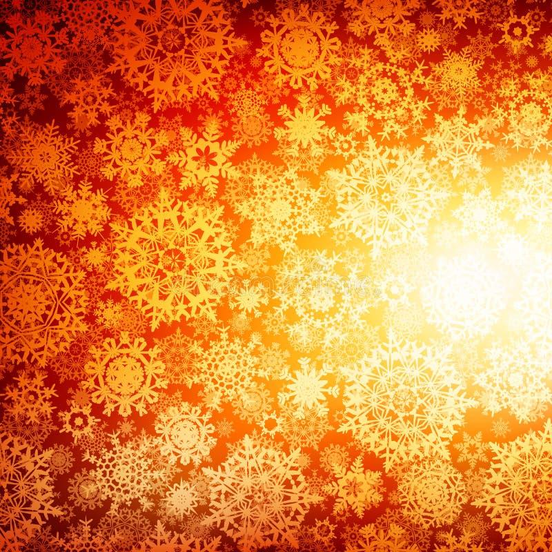 Nahtloses tiefes orange Weihnachten. ENV 10 stock abbildung
