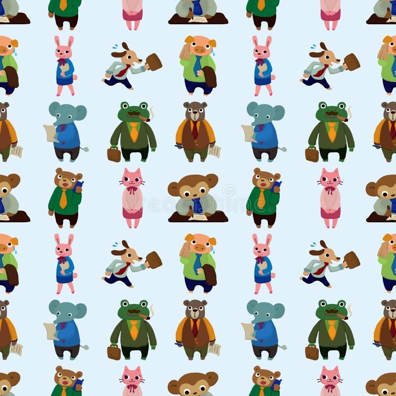 Nahtloses Tierbüroangestelltmuster Stockfotos