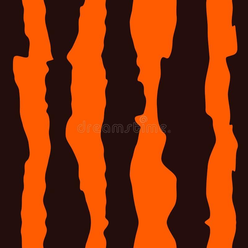 Nahtloses Tiger-Fell-Muster stock abbildung