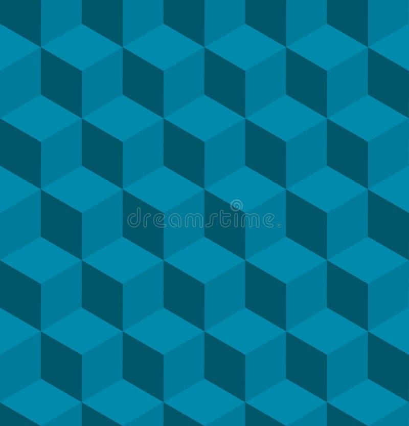Nahtloses tilable isometrisches Würfelmuster lizenzfreie abbildung