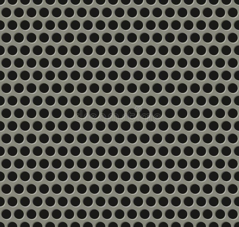 Nahtloses Tilingmetallgrillmuster stock abbildung