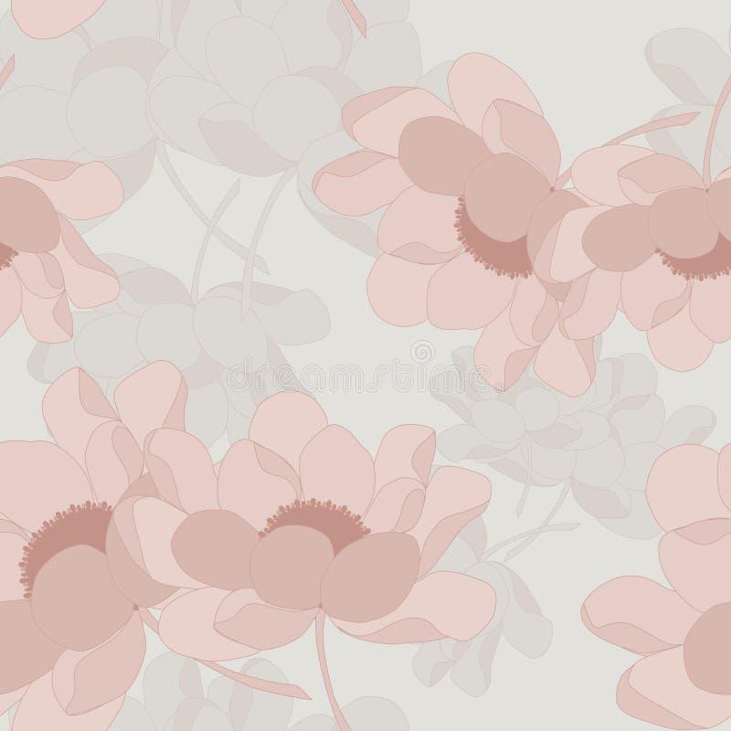 Nahtloses ursprüngliches mit Blumenmuster lizenzfreie abbildung