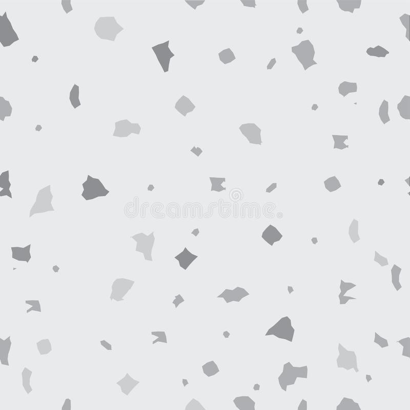 Nahtloses Vektor Mosaik-Muster Schwarzweiss vektor abbildung