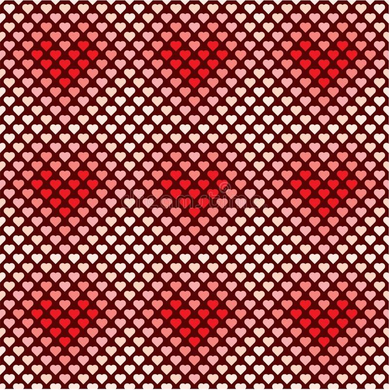 Nahtloses Vektormuster des Herzhintergrundes, Valentinstagliebe schön stock abbildung