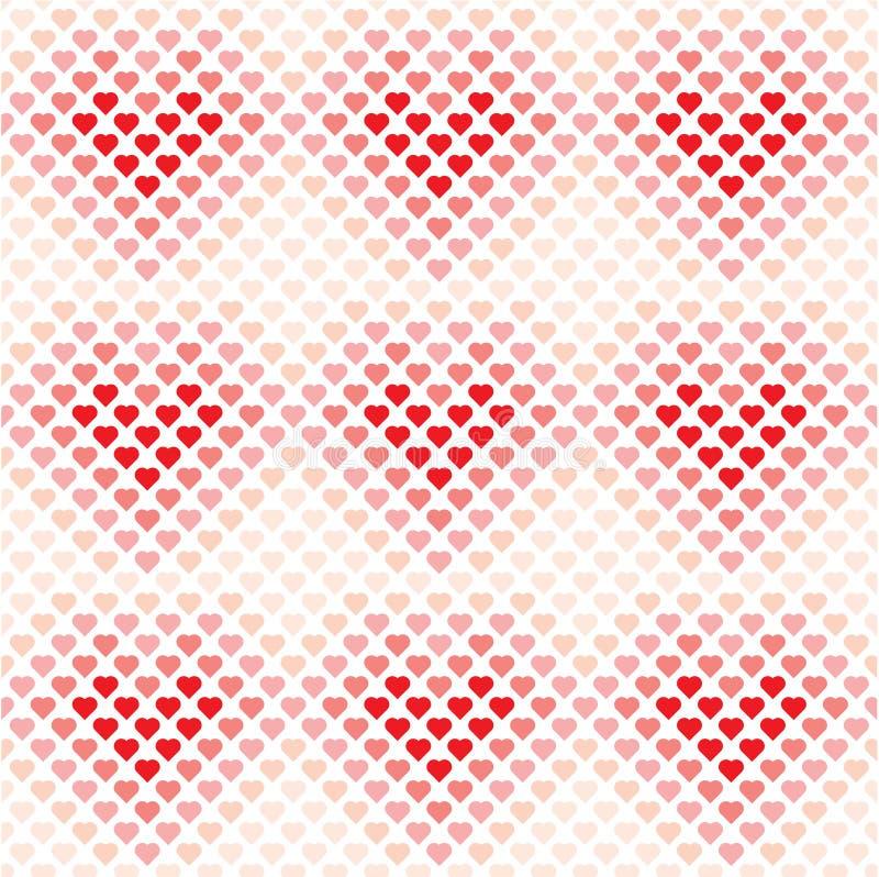 Nahtloses Vektormuster des Herzhintergrundes, Valentinstagliebestapete, stock abbildung