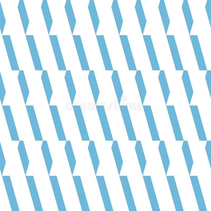 Nahtloses vektormuster Einfarbiger hellblauer und weißer Verzierungshintergrund lizenzfreie abbildung