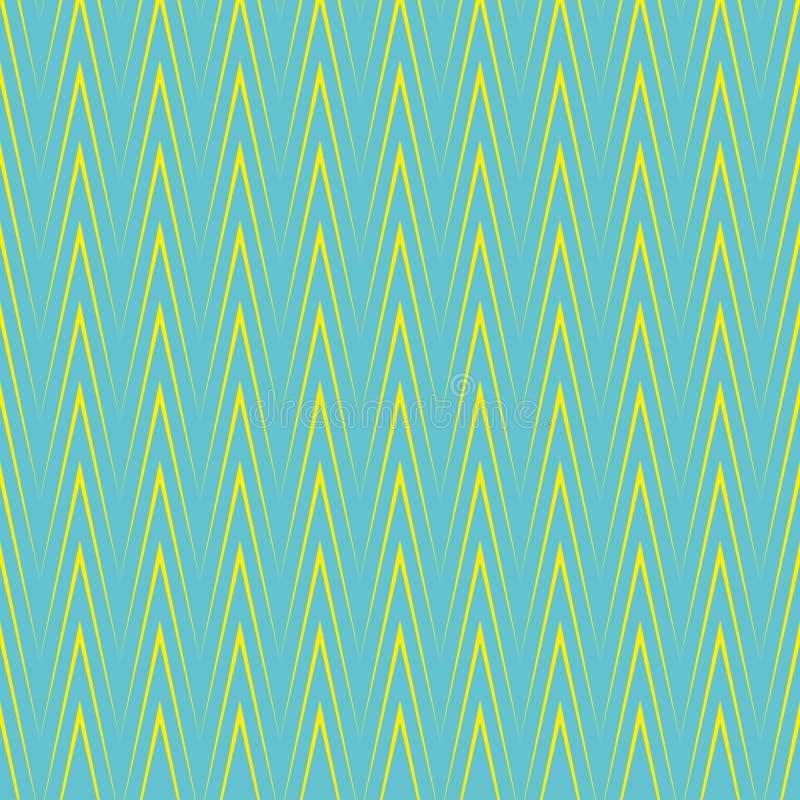 Nahtloses vektormuster Geometrischer Hintergrund Zickzack-Chevrons Das Element des Designs, zum von Plänen zu schaffen, druckend  lizenzfreie abbildung