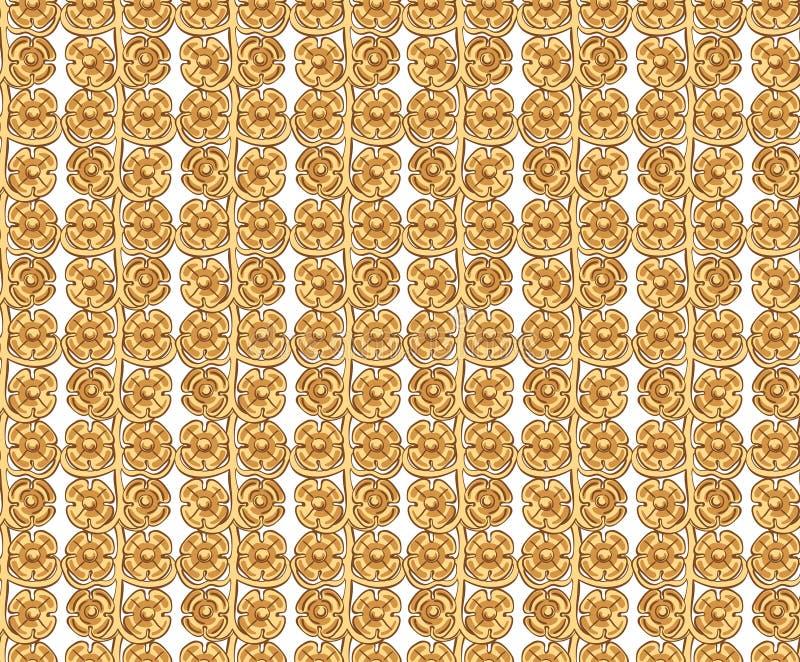 Nahtloses Vektormuster mit barocken Elementen für Modeart vektor abbildung