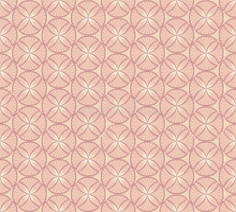 Nahtloses vektormuster mit beige Blumenthema vektor abbildung