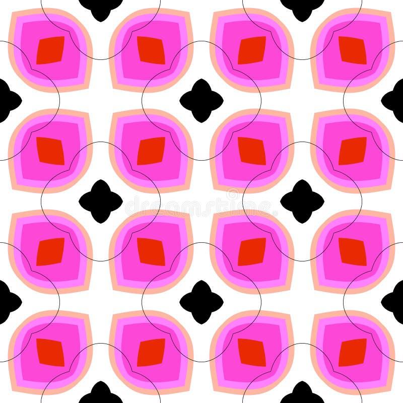 Nahtloses Vektormuster mit mutigen geometrischen Formen lizenzfreie abbildung