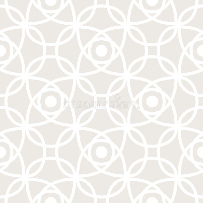 Nahtloses Vektormuster mit symmetrischer Verzierung Abstrakte subtile geometrische gerundete Linien Hintergrund in der Pastellfar lizenzfreie abbildung