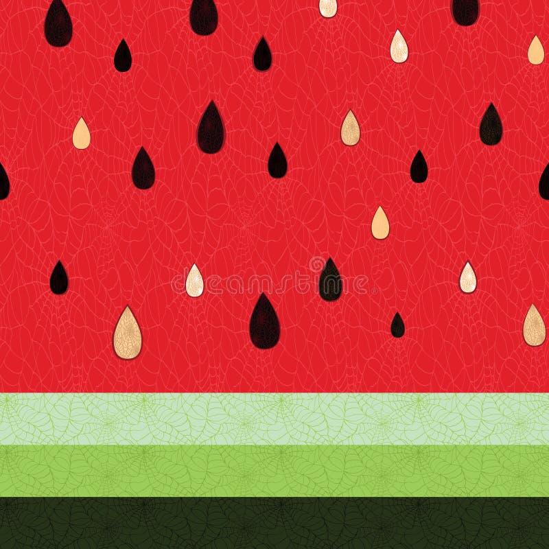 Nahtloses Wassermelonenmuster stock abbildung