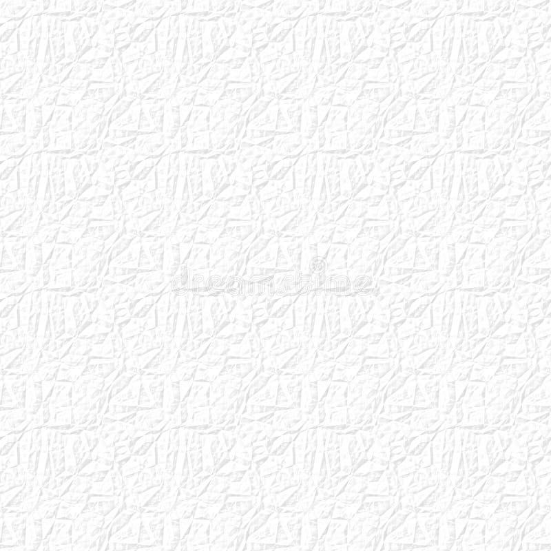 Nahtloses weißes Hoch zerknitterte Papierbeschaffenheit stock abbildung