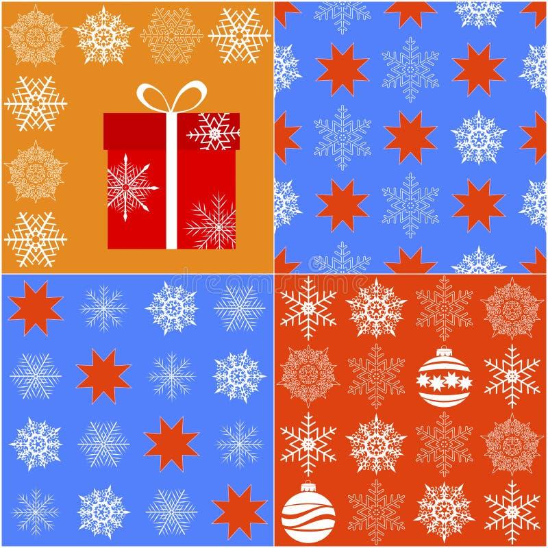 Nahtloses Weihnachtsmuster. lizenzfreie abbildung
