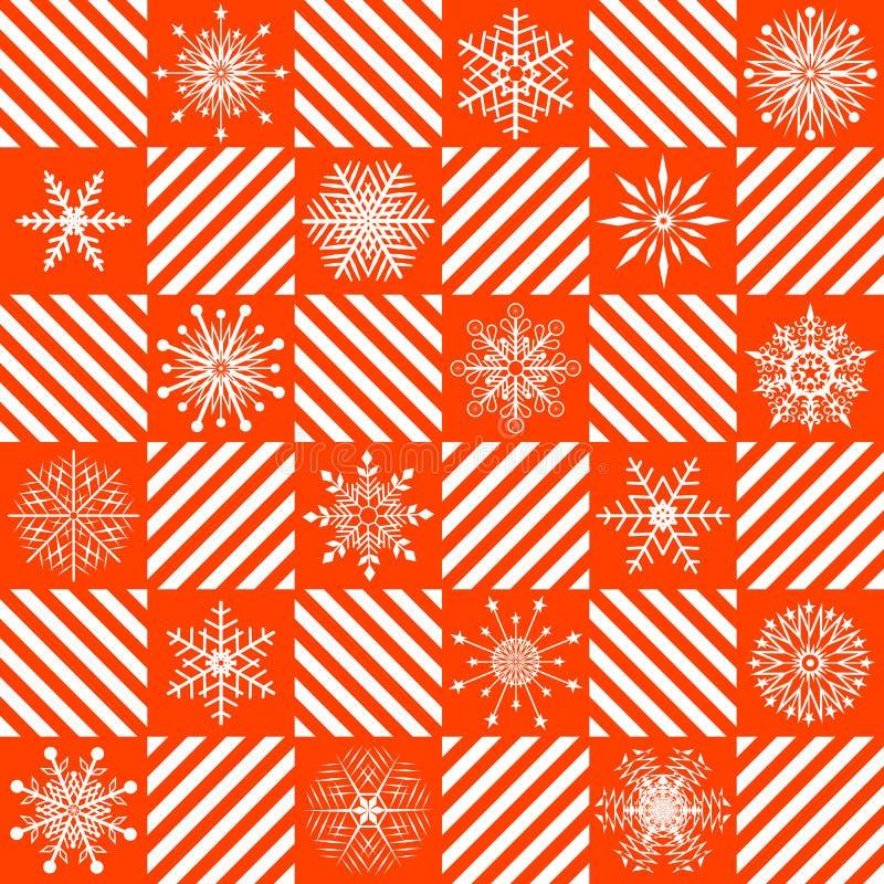 Nahtloses Weihnachtsmuster. stock abbildung