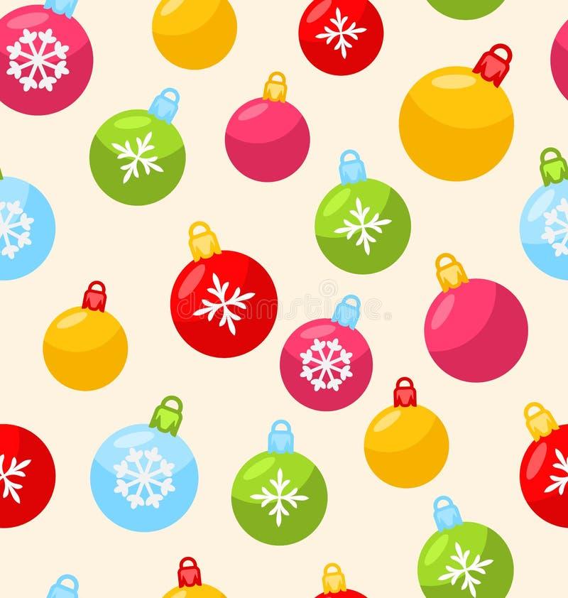 Nahtloses Weihnachtsmuster mit Weihnachtsball lizenzfreie abbildung
