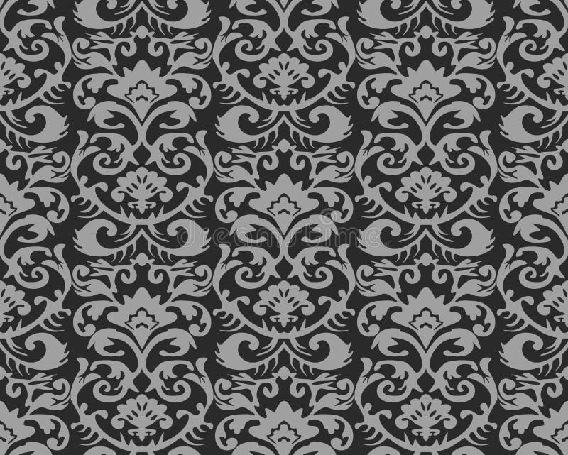 Nahtloses Weinlese-Tapeten-Muster lizenzfreie stockfotos
