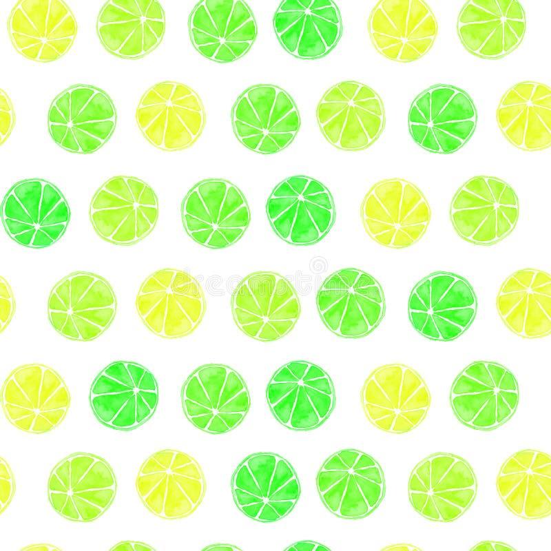 Nahtloses Zitrusfrucht-Muster lizenzfreie stockfotos