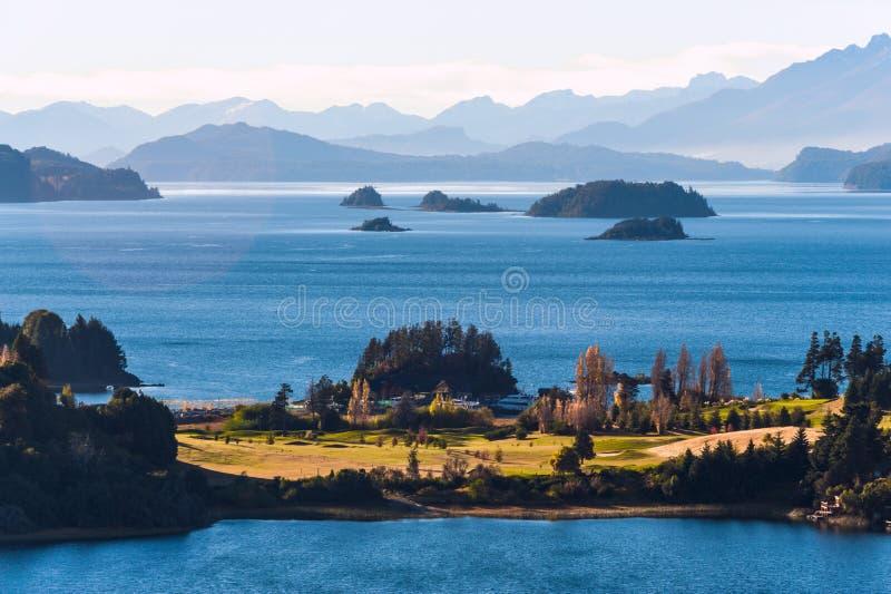 Nahuel Huapi jezioro blisko Bariloche, fotografia royalty free