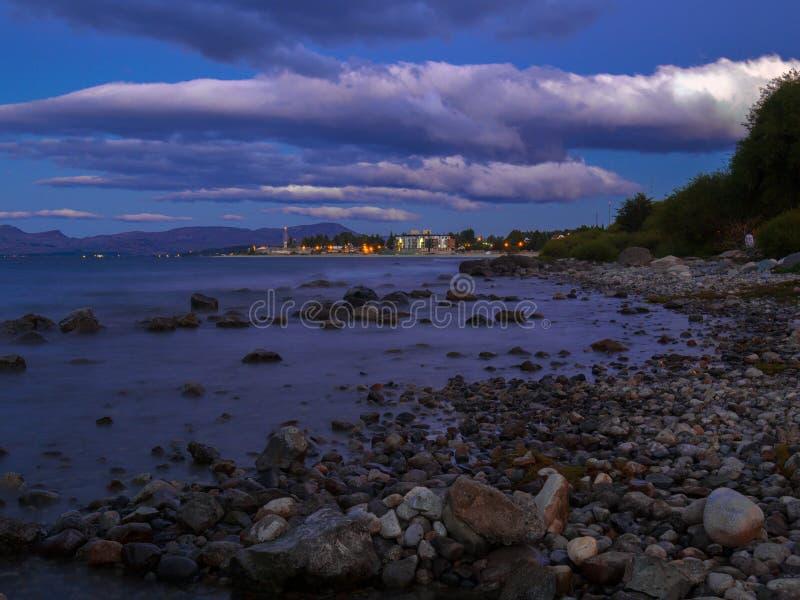 Nahuel Huapi-meer royalty-vrije stock foto's