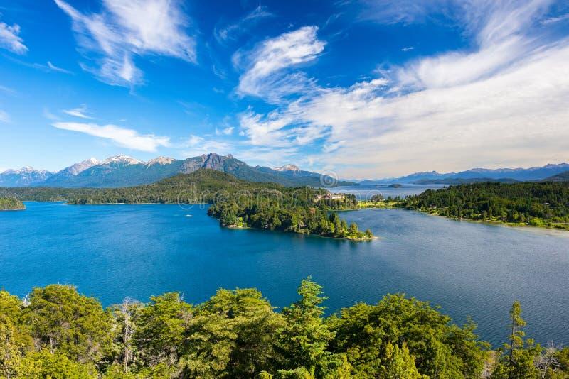 Nahuel Huapi-meer, San Carlos de Bariloche, Argentinië stock foto's