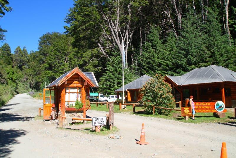 Nahuel Huapi Park-ingang - Bariloche - Argentinië royalty-vrije stock foto's