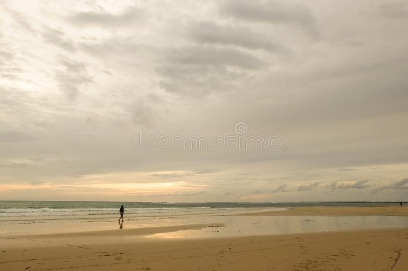 Nai Yang Beach. Beautiful sunset at Nai Yang Beach, Phuket royalty free stock photo