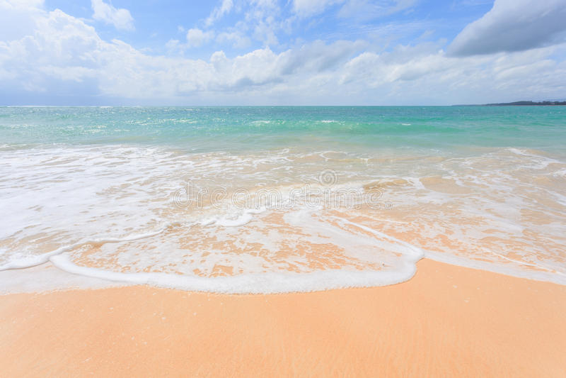 Nai Yang Beach bonita, Phuket, Tailândia imagem de stock