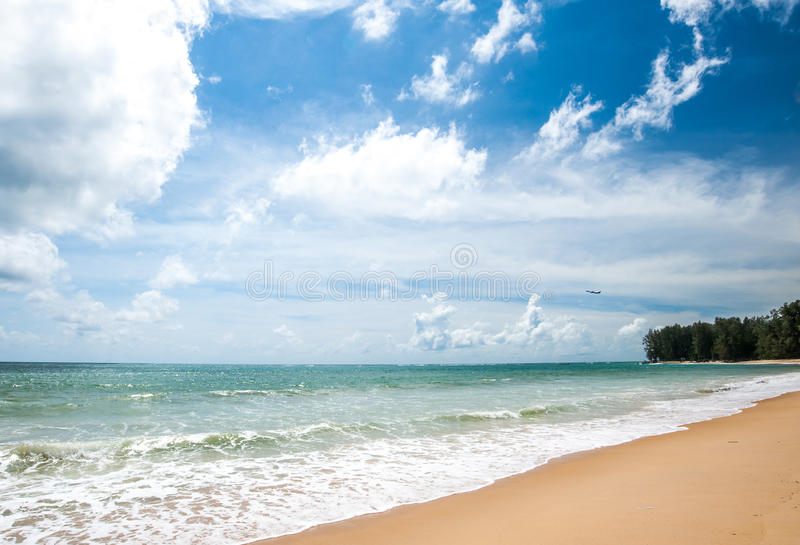 Nai Yang Beach, Phuket Thailand. Naturally beautiful Nai Yang Beach on Phuket Island royalty free stock photos