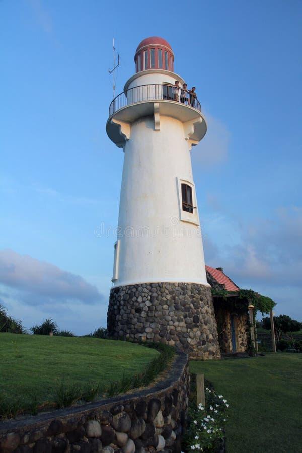 Naidi小山灯塔Basco,巴丹群岛省 库存图片
