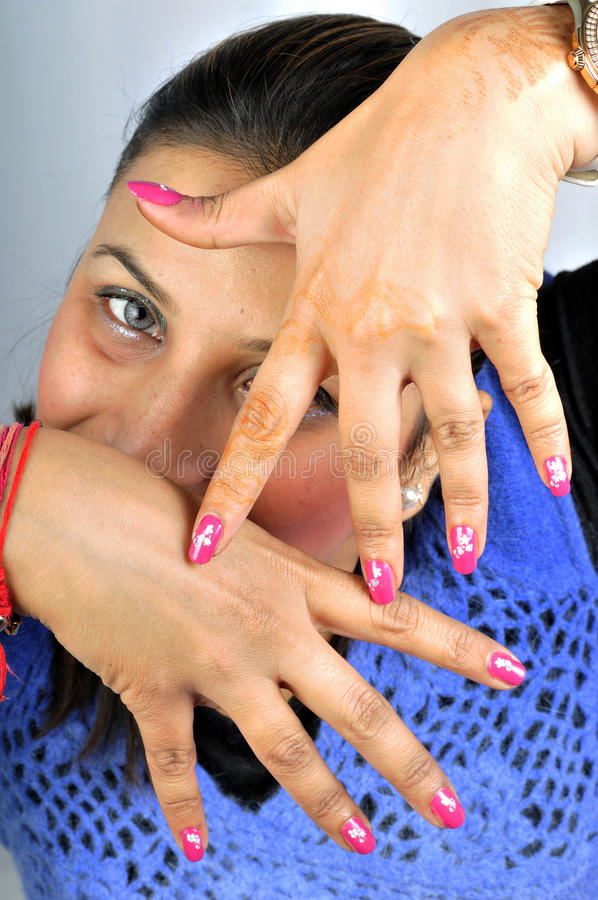 Download Nail art stock photo. Image of saloon, hand, paste, isolated - 13305584