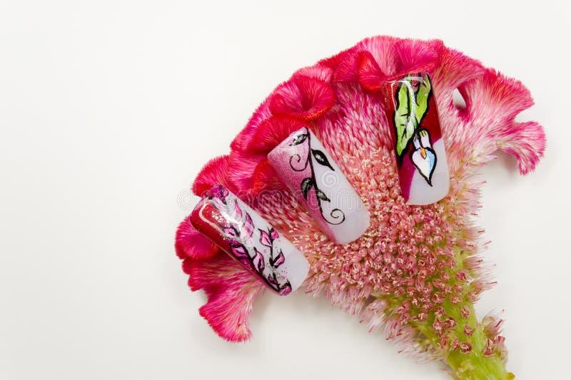 Nail art royalty free stock photo
