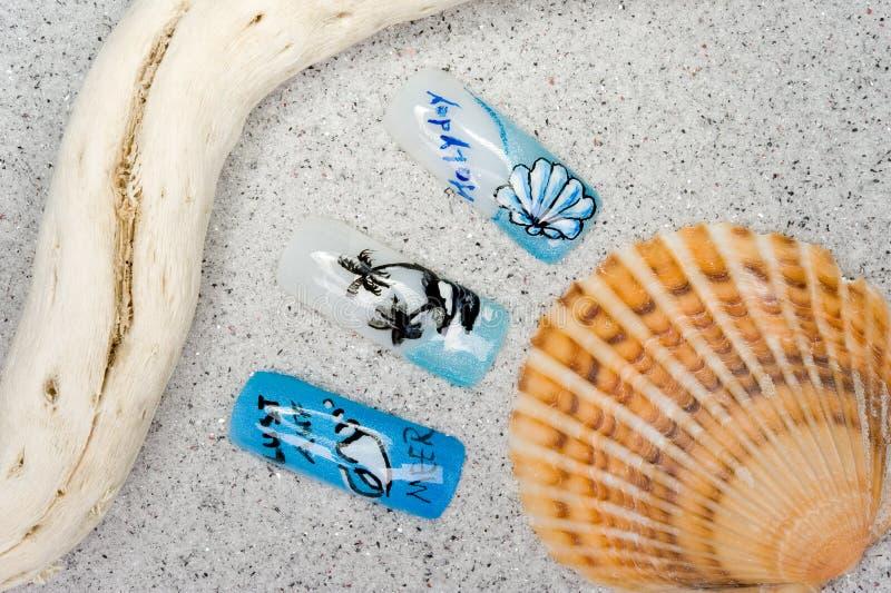 Nail art royalty free stock image