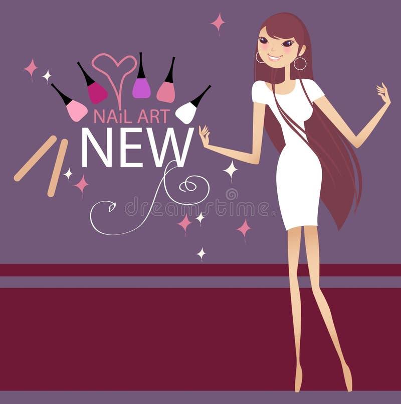 Download Nail art stock illustration. Illustration of draw, women - 6034220