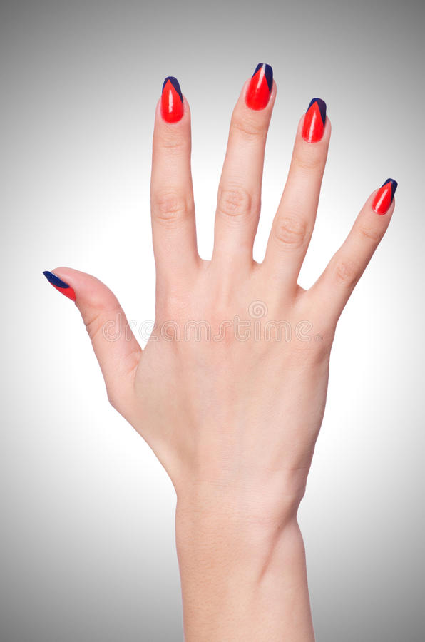 Nail art concept stock images