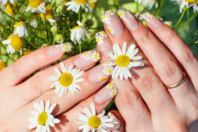 Nail art design royalty free stock photography