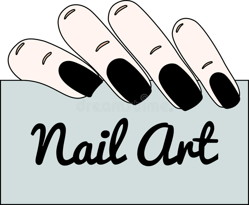 Nail art. Gothic manicure. Vector illustration