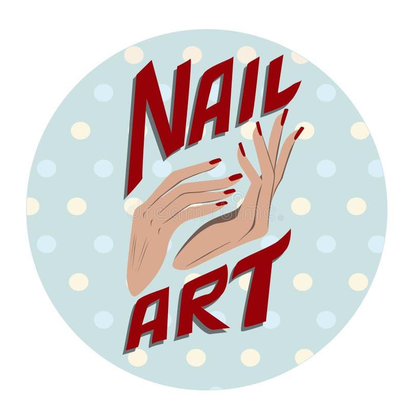 Nail Art Vector: Nail Art Label Stock Vector. Illustration Of Slim, Skin
